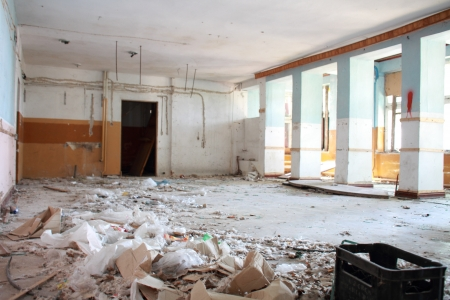house renovation: interior of the house, ruins for renovation