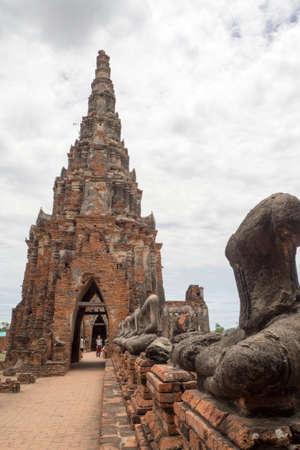 chai: Wat Chai Watthanaram in thailand