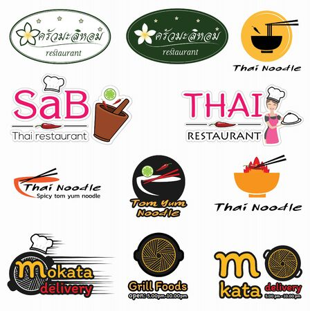 logo thai restaurants design