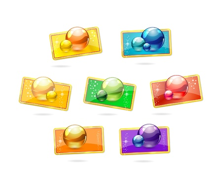 colored badges set Stock Photo - 9618338