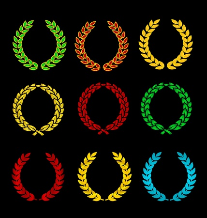 golden and colored  heraldry symbols set Stock Vector - 9720883