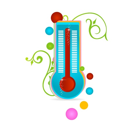 medical thermometer sign isolated
