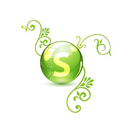 Green alternative medication concept Stock Vector - 9720582