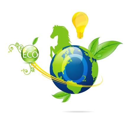 cretive: cretive nature green eco earth symbol