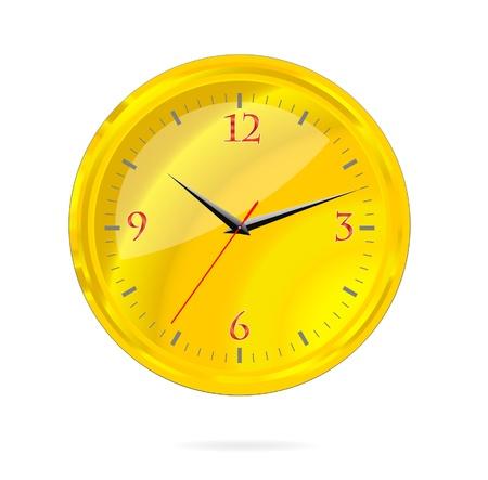 chronometer: classic gold chronometer sign isolated
