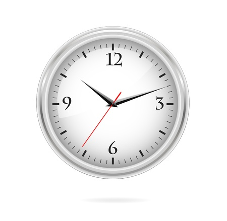 elegance and classic silver clock sign Reklamní fotografie - 9865443