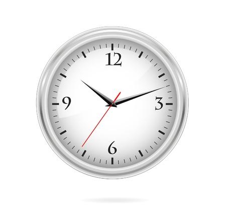 elegantie en klassieke zilveren klok teken