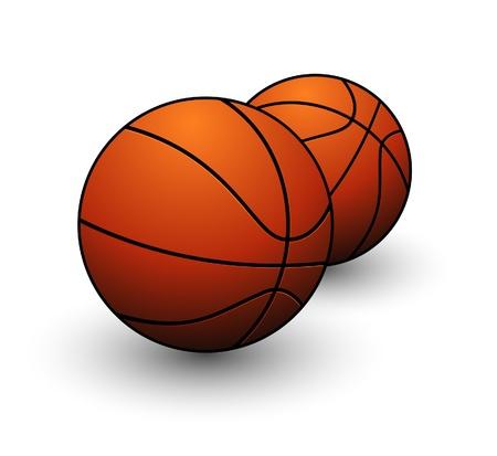 sport game basketball orange color isolated Illustration