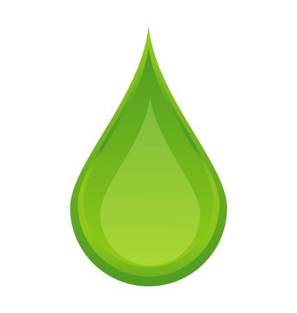gocce di colore: Icona verde