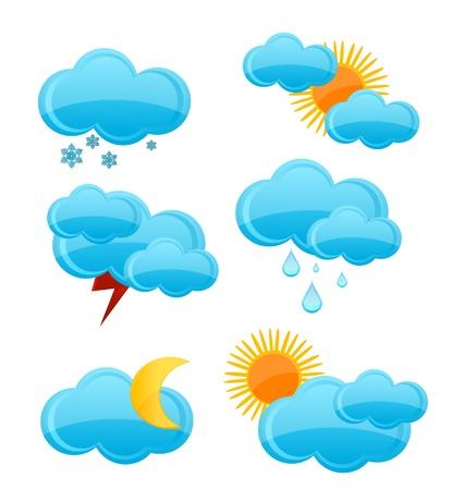 weather symbols set Stock Vector - 10010384