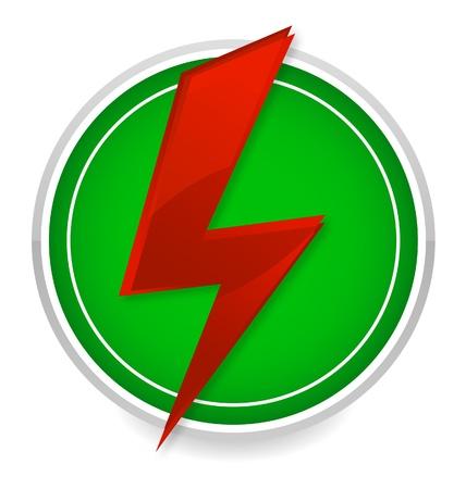stroom energie symbool rode en groene kleur
