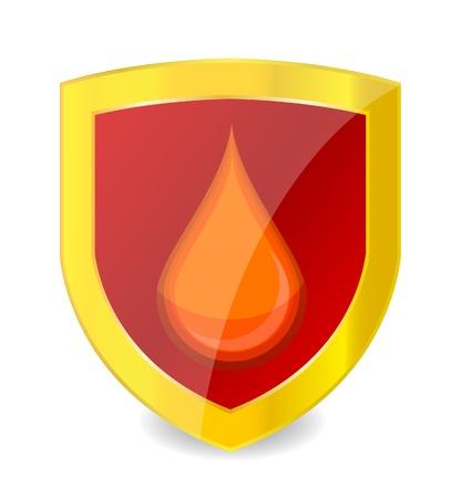 medic symbol blood drop red color