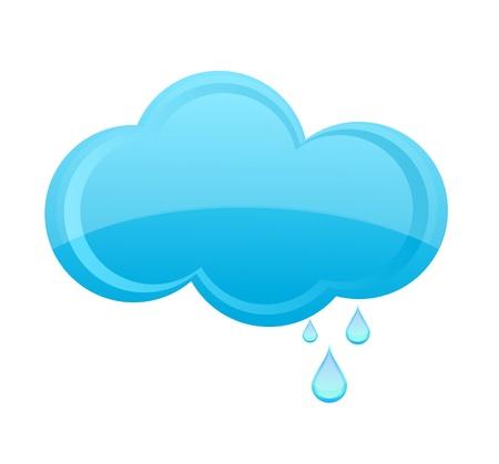 glass weather  rain cloud sign blue color Stock Vector - 10622494