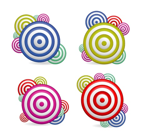 cretive: abstract cretive and colored symbols set isolated
