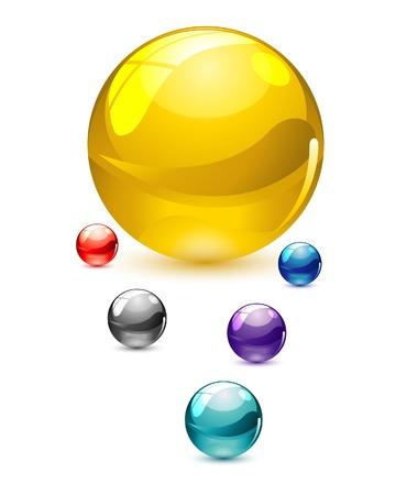 glass colored circles set Illustration
