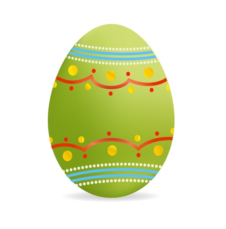 decorative green easter egg symbol isolated Illustration