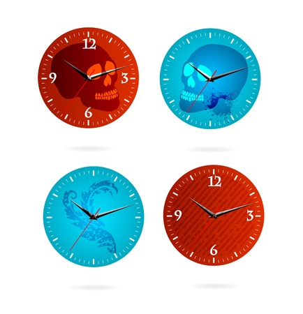 grunge time sign set Stock Vector - 11234002