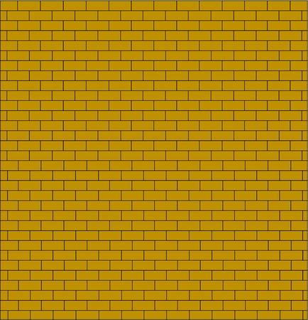 bakstenen muur testure gele kleur geïsoleerd