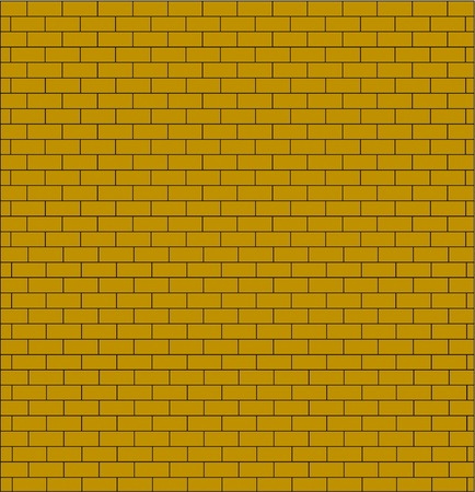 brick wall testure yellow color isolated Stock Vector - 11272617