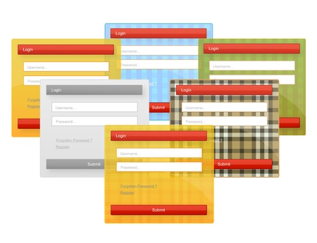 web element login forms set Stock Vector - 11272620