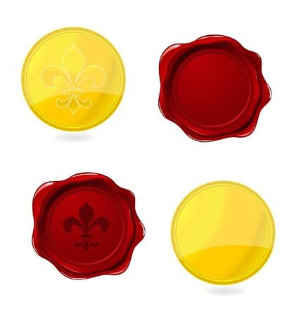 elegantie ingedrukt stempels en emblemen