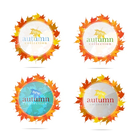 abstract creative emblem sign set isolated Stock Vector - 12357451