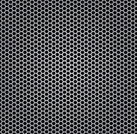 chrome texture grill metal isolated Illustration