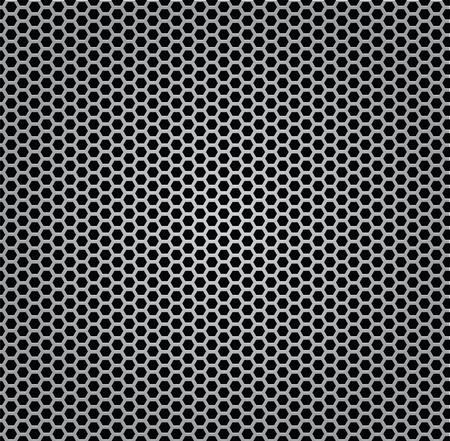 fibra: struttura in metallo cromato griglia isolata