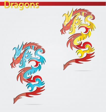 brillant et élégance religion symboles de dragon