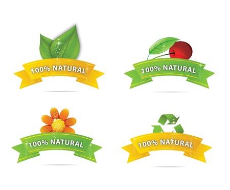 glass nature elegance symbols set