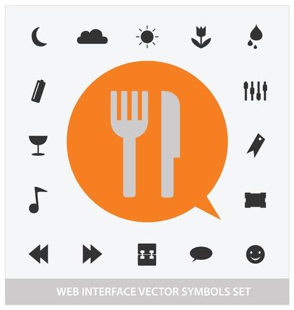 abstract web interface symbols set Stock Vector - 13081317