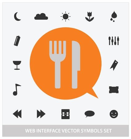 abstract web interface symbols set Stock Vector - 13081317