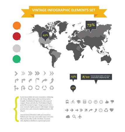 energy ranking: Web infographic elements set isolated Illustration