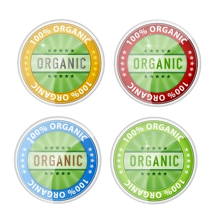 web organic labels emblems symbols set Vector