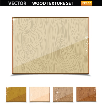 wood texture vintage old set isolated Stock Vector - 14024199