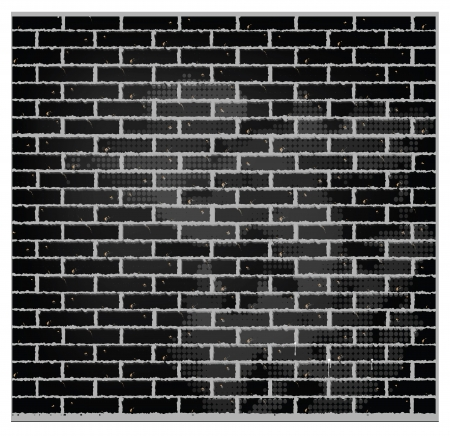 pattern texture brick wall black color Stock Vector - 14024205