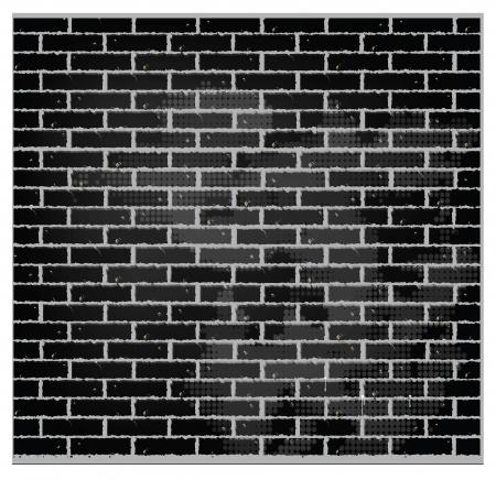 pattern texture brick wall black color Stock Vector - 14024205