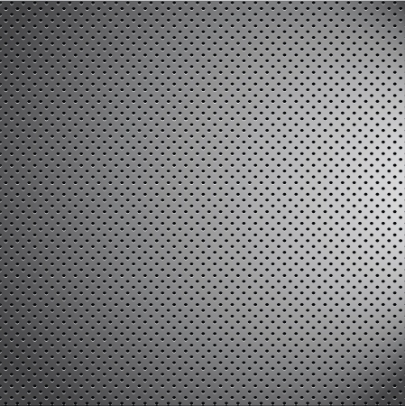 metal net: mess chrome metal pattern texture grid carbon material Illustration