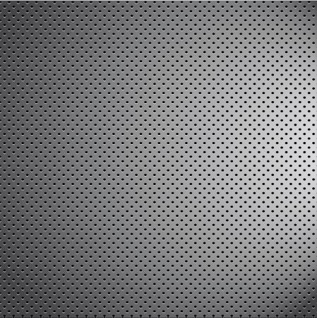 puinhoop verchroomd metaal patroon textuur rooster carbon materiaal Stock Illustratie