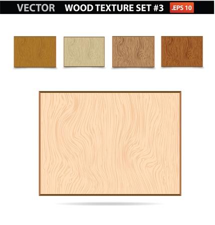 abstract materiaal hout textuur vintage geïsoleerde oude set Stock Illustratie