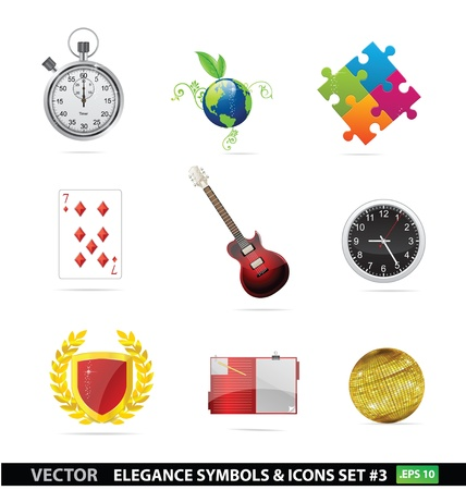 Web and creative graphic symbols set isolated Stock Vector - 14118210