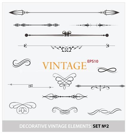 Vintage elementen ondertekenen en grenzen stellen Stock Illustratie