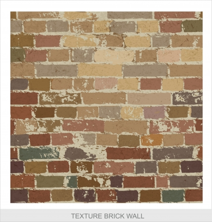 brick wall texture grange style Stock Vector - 14459315