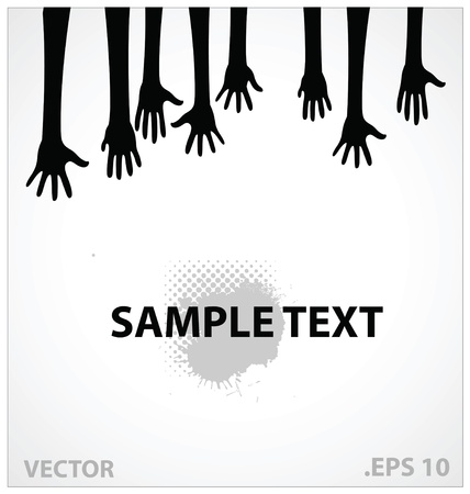 hands  illustration sign black color Vector