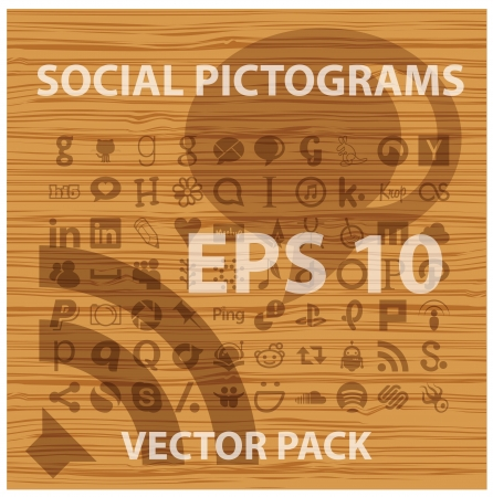 social and people pictograms symbols set Illustration