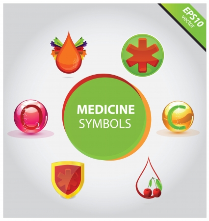 Medical icons and symbols vector set Vector