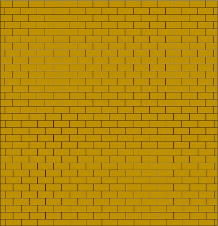 brick wall testure yellow color isolated Stock Vector - 17756089
