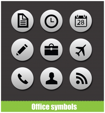 Web office circle pictogram symbols photo