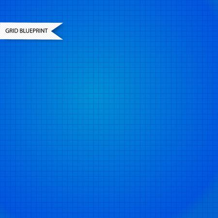 millimeter: Blue millimeter paper background Illustration