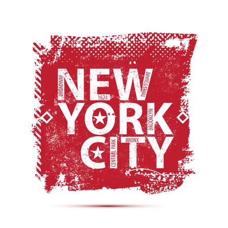 College New York typography, t-shirt